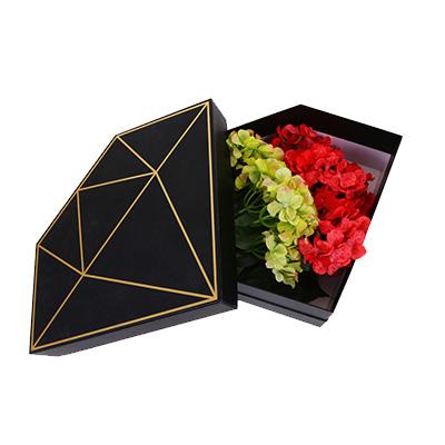 Diamond Pendagon Shape Flower Gift Box