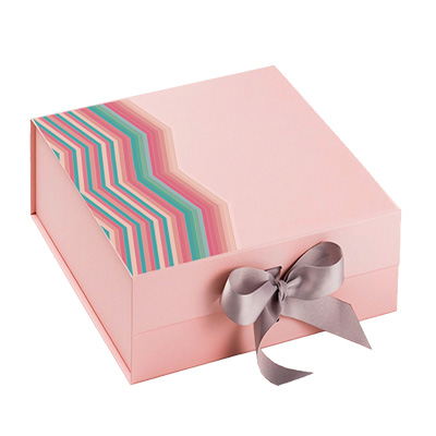 Square Pink Folding Gift Boxes